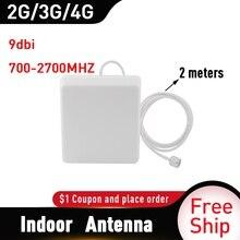 Antena interna do impulsionador móvel do repetidor 4g do sinal do telefone celular de 2g 3g 4g antena 700 2700 mhz cdma gsm dcs lte do painel
