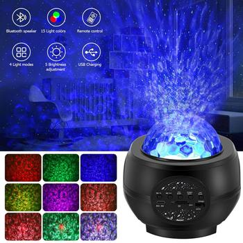 LED Starry sky projector USB bluetooth night light Romantic colorful starry sky projection lamp with remote control party lamp colorful starry sky projector night light rotation starry moon night lamp usb charging for birthday gift romantic baby children
