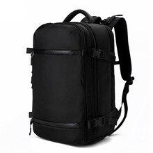 Ozuko mochila dos homens pacote de viagem à prova dwaterproof água saco portátil masculino escola bagagem usb grande capacidade multifuncional feminino anti roubo