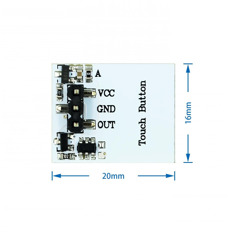 10 шт., емкостный сенсорный переключатель, 2,7-6 в