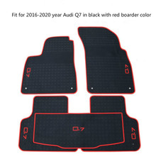 Rubber Car Floor Mats for Audi Q5 Q7 Q2 A3 2006-2020 Year No Odor Non Slip Waterproof Carpets for audi q7 2015 2019 rubber floor mats into saloon 5 pcs set seintex 86854