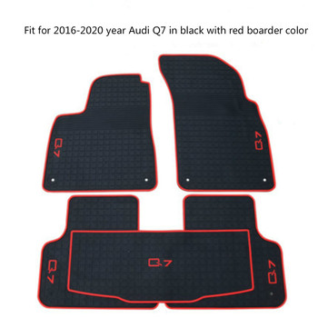 Rubber Car Floor Mats for Audi Q5 Q7 Q2 A3 2006-2020 Year No Odor Non Slip Waterproof Carpets for honda civic left drive firm pu leather full car floor mats black grey beige non slip custom made waterproof carpets page 7