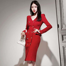 Mode Jurk Vrouwen Lente Rode Dresse Casual Kantoor Dame Elegante Business Party Bodycon Dress Vestidos Kleding(China)