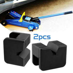 1 Pair Car Lift Jack Stand Rubber Pads Jack Pad Adapter Auto Rubber Jack Pads Tool 2-3 Ton Universal For Vehicle Car Accessories