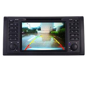 Image 4 - الأصلي UI 1 الدين مشغل أسطوانات للسيارة لاعب لسيارات BMW X5 E39 GPS بلوتوث راديو USB SD عجلة القيادة التحكم خريطة الكاميرا