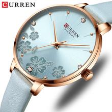 2020 nowy CURREN kobiety zegarki Top marka luksusowe stylowe wykwintna skóra zegarek panie wodoodporny zegarek kwarcowy dziewczyna zegar tanie tanio CRRJU QUARTZ NONE Sprzączka CN (pochodzenie) STOP 3Bar DRESS 12mm ROUND Odporne na wodę Hardlex 9068 23cm Papier Skórzane