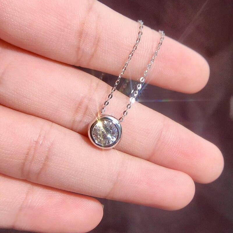 Женское Ожерелье из стерлингового серебра 925 пробы черного цвета AWN 2020, милые круглые ожерелья с подвесками, ювелирные изделия из стерлингов...