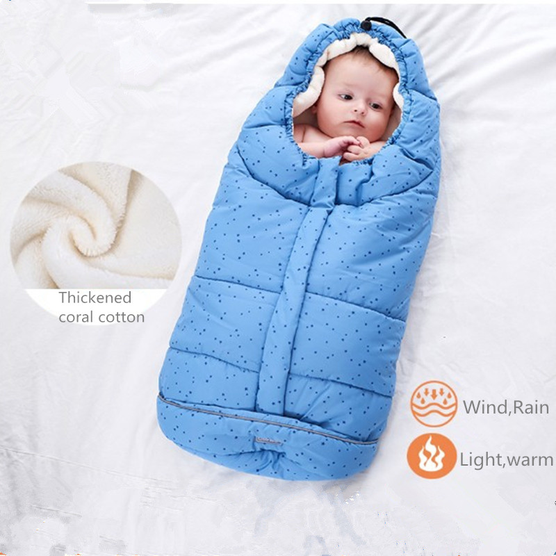Baby Sleeping Bag Winter Warm Envelope For Newborns Infant Stroller Sleepsack Soft Toddler Sleeping Bag For Baby Kids Wheelchair