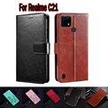 Чехол для Realme C21, защитный чехол для телефона, чехол-книжка для RealmeC21, кожаный чехол-книжка