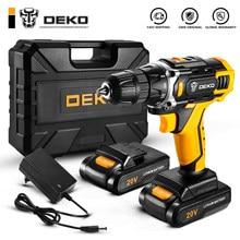 DEKO nouveau Sharker 20V perceuse visseuse sans fil tournevis Mini pilote d'alimentation sans fil batterie Lithium-Ion cc 18 + 1 réglages