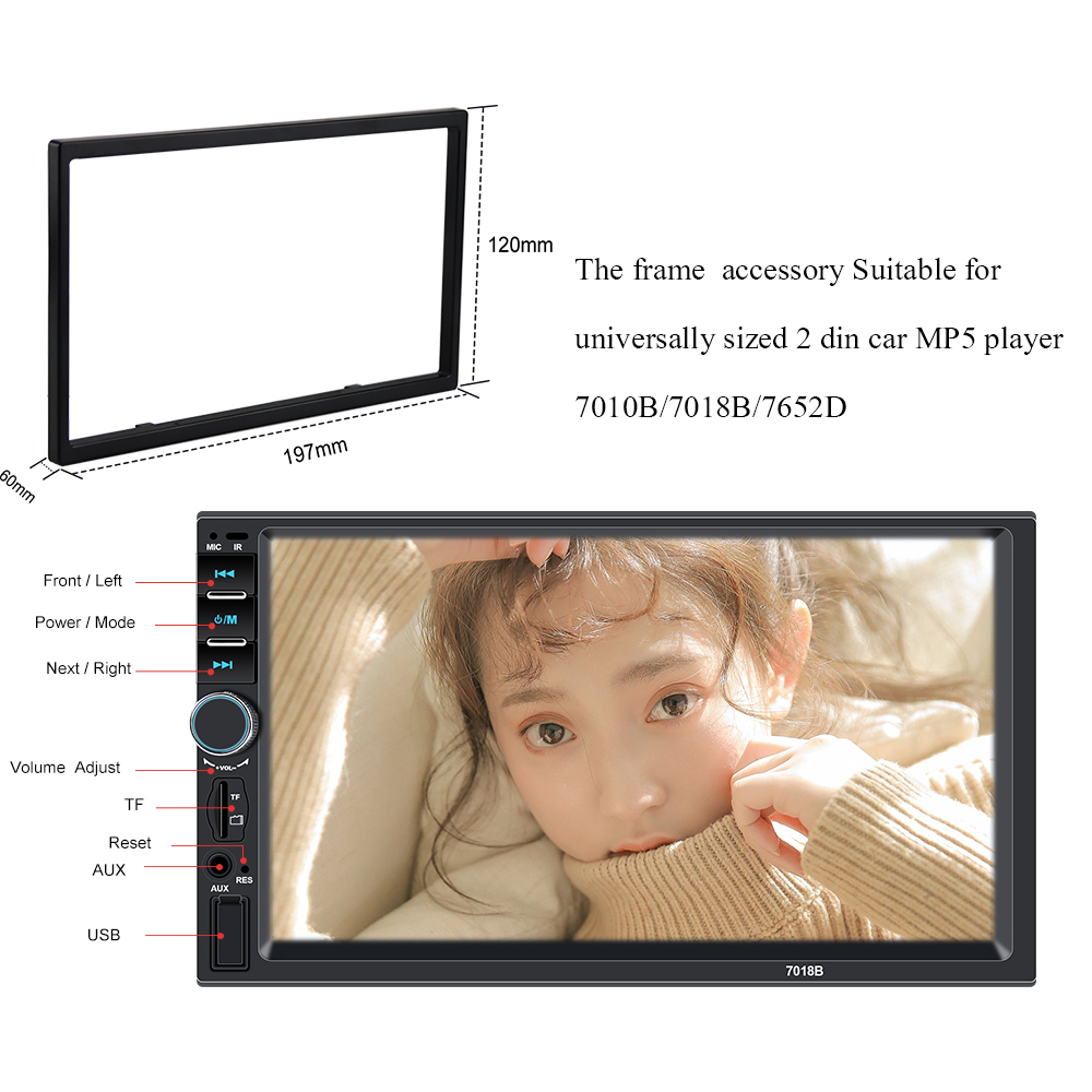 Plastic Frame For Universal 2 Din HD 7