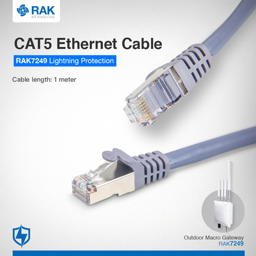 CAT5 Ethrnet Cable  For Outdoor Surge Protection System 1 Meter