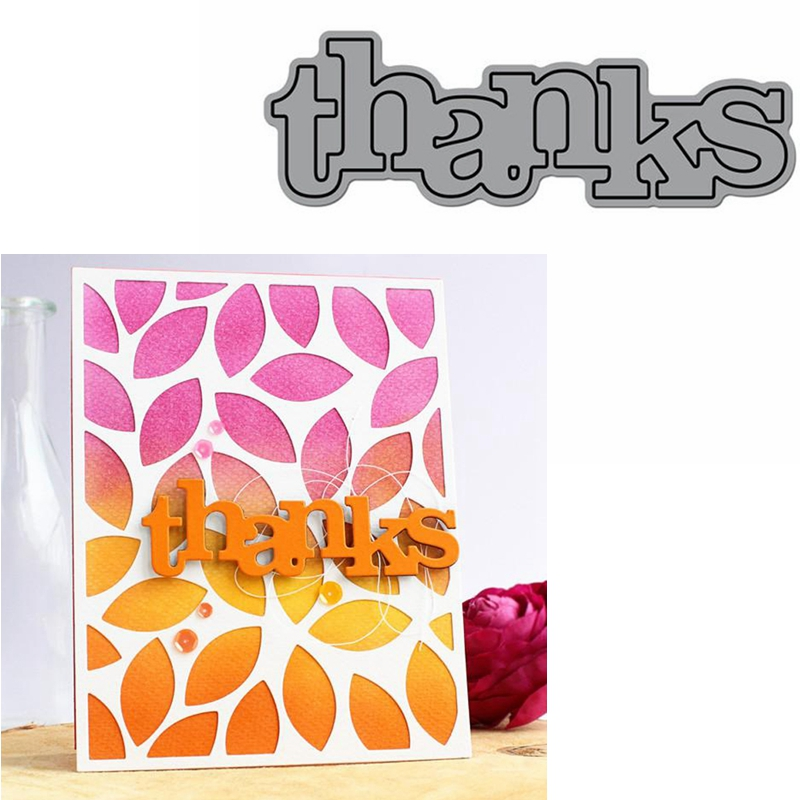 Thanks Word Die Cuts For Card Making Thanks Word Dies Scrapbooking Metal Cutting Dies New 2019
