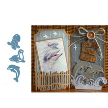 Cutting-Dies Paper-Card Craft Scrapbooking Make-Stencil Handmade Metal Dolphin JC