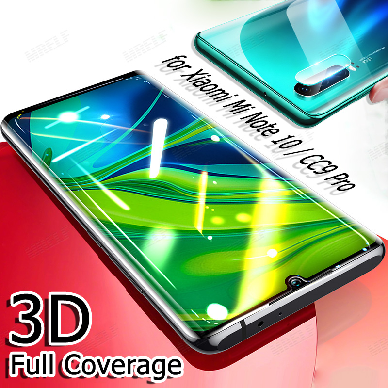 3D Tempered Glass For Xiaomi Mi Note 10 Pro Screen Protector Case Protective CC9 Pro Camera Glass For Xiaomi Mi Note 10 Pro CC9