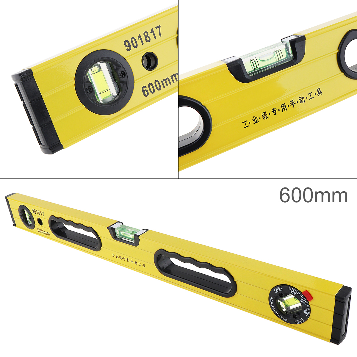Professional Level Magnetic Bearing Lever Ruler Measuring Instrument 16inch