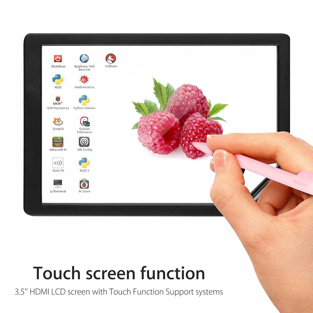 Image 5 - 3.5 inch TFT LCD Touch Screen + ABS Case + Touch Pen LCD Display HDMI Input Monitor Kit for Raspberry Pi 4 BLCD Modules   -