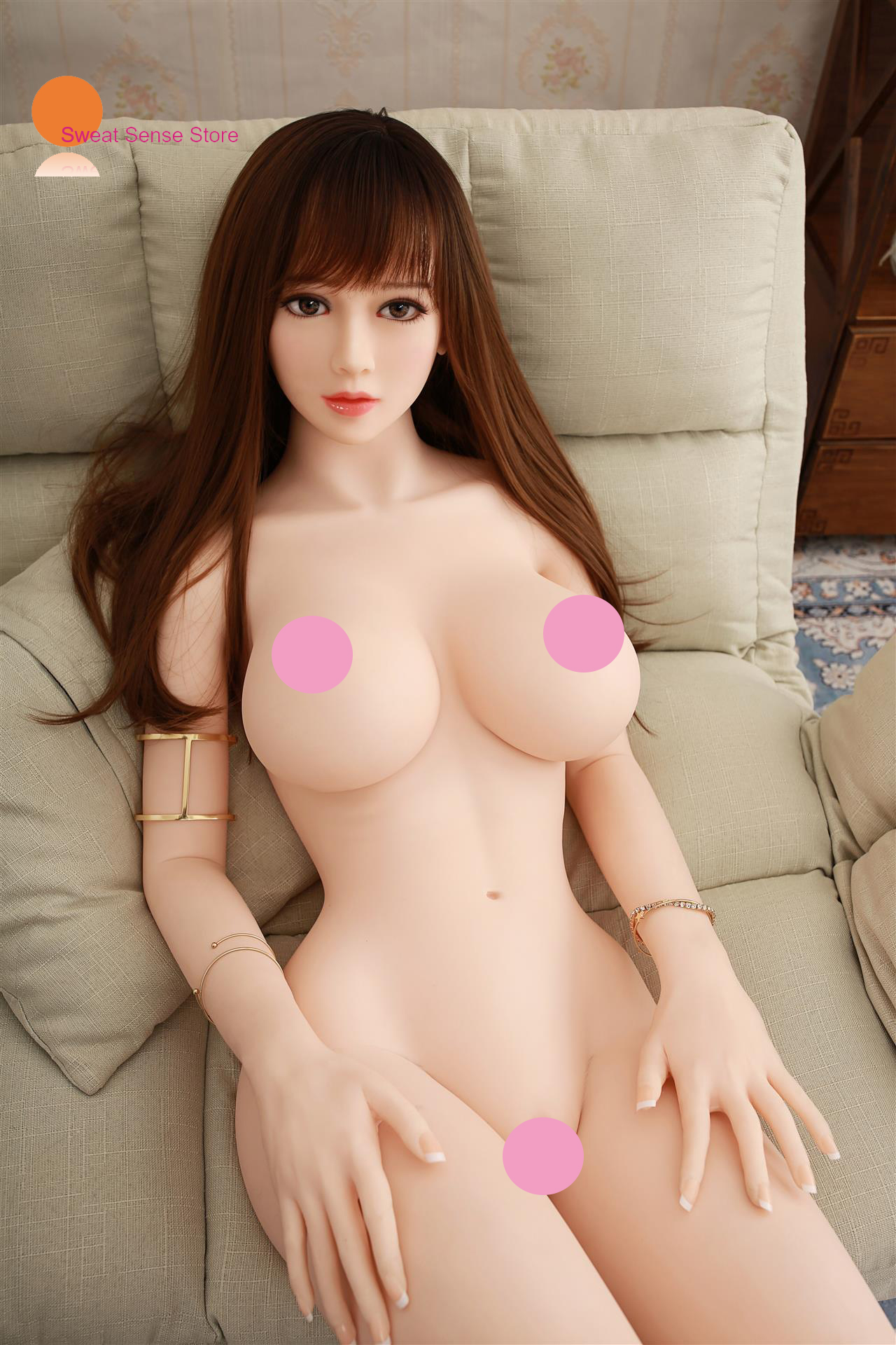 <font><b>128CM</b></font> <font><b>Sex</b></font> <font><b>Doll</b></font> Big Breast Full TPE with Skeleton Adult <font><b>Sex</b></font> <font><b>Doll</b></font> White Realistic Silicone Vagina Love <font><b>Doll</b></font> For Man image