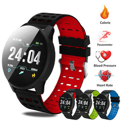 Men's Watch Sport Bracelet Smart Waterproof Fitness Bluetooth Connection Android ios System Heart Rate Monitor Pedometer Watch