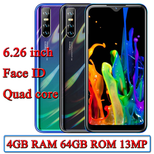 A10 Smartphones Water Drop Screen 6.26 inch 4G RAM 64G ROM Quad Core 13mp Face ID unlocked android 2SIM Mobile Phones Celulares