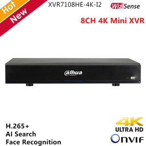 Цифровой видеорегистратор Dahua 4K Mini XVR WizSense H.265 +, поддержка распознавания лиц в реальном времени, ии поиск, 8-канальный XVR CCTV