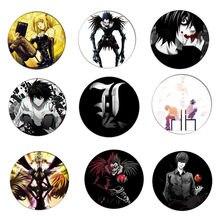 Frete grátis anime death note cosplay crachá broche l · lawliet assassino yagami luz pinos emblemas para mochilas presente das crianças