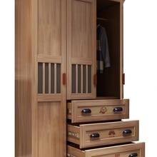 Storage-Organizer Wardrobe Wood with Drawers Household Bedroom Locker Multifunctional