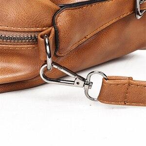 Image 4 - Women Bag Vintage Shoulder Bag Luxury Handbags PU Leather Crossbody Bags For Women 2019 Ladies Boston Casual Tote Bolsa Feminina
