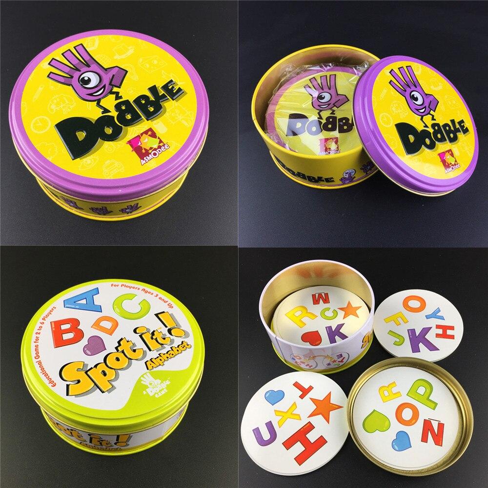 haute-qualite-83mm-dobble-kid-animaux-reperer-il-carte-de-jeu-hip-hop-version-anglaise-jeu