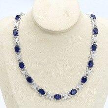 Bleu vert violet Zircon couleur argent collier pour femmes bijoux de mariage boîte cadeau gratuite