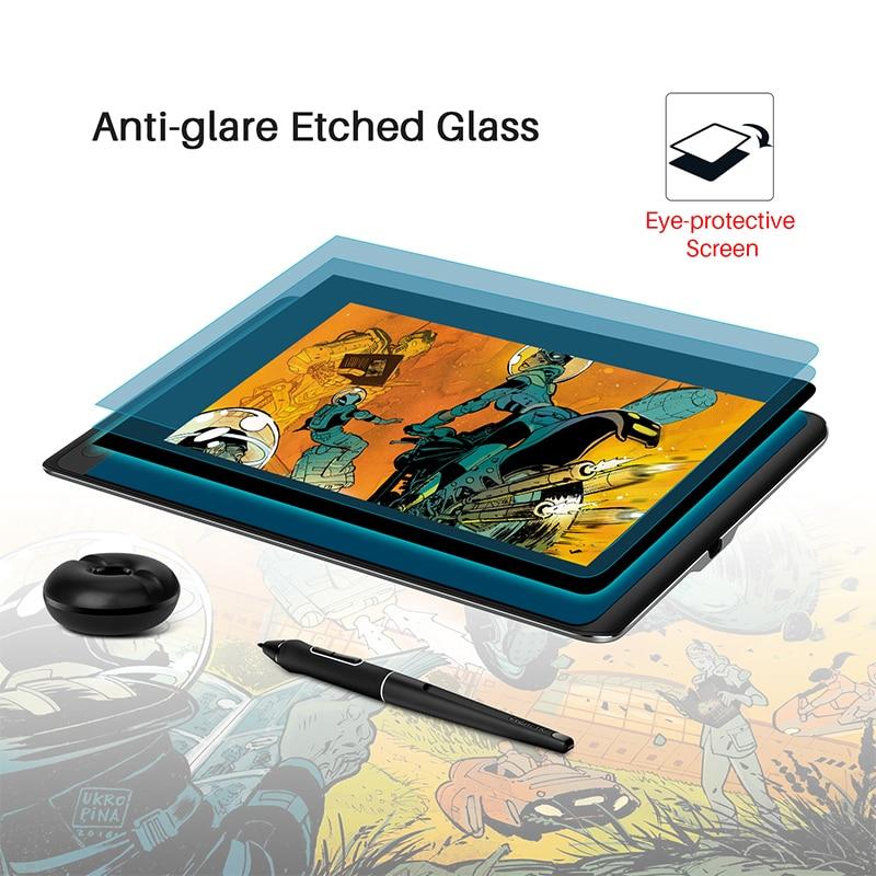 Image 4 - Huion kamvas pro 12 pacote de presente de natal caneta tablet monitor de arte gráficos desenho caneta display monitor de inclinação 60 bateria livre emrTablets digitais   -