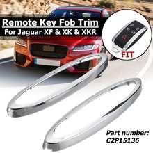 Хромированный чехол для дистанционного ключа, крышка Fob, комплект для Jaguar XF& XK& XKR# C2P15136