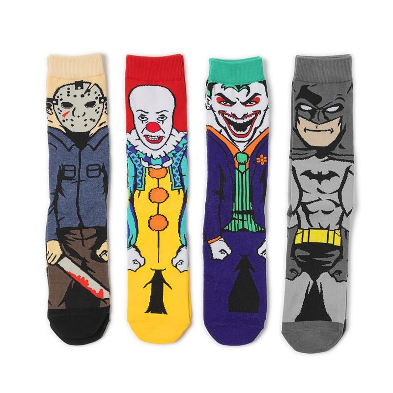The Dark Knight Batman Cosplay Props Joker Sock Child Adult Pennywise Novelty Cute Cotton Clown Street Stockings Ankle Socks New