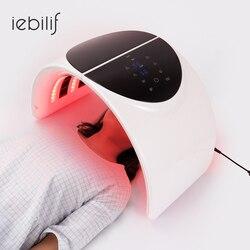 Składana 7 kolorów PDT maska na twarz lampa twarzy maszyna terapia fotonowa LED Light odmładzanie skóry przeciwzmarszczkowa pielęgnacja skóry maseczka upiększająca