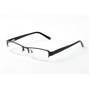 Image 4 - BCLEAR klasyczne pół obręczy ze stopu okulary rama marka projektant biznes mężczyźni rama okulary spektakl wiosna zawias na octanu nogi
