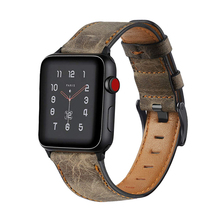 цена на strap for apple watch 5 4 apple watch band 42mm 38mm 44mm 40mm belt iwatch series 5/4/3/2/1 Retro Genuine Leather bracelet