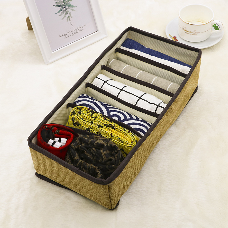 Drawer Organizers Non-woven Bra Underwear Storages Boxes Scarfs Socks Four-piece Multifunction Foldable Home Drawers Box Storage