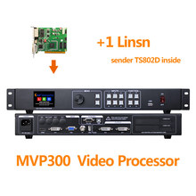 free shipping led video processor mvp300 with 1pc linsn ts802d sync sending card full color led display panel usage