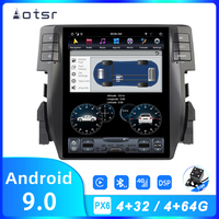 AOTSR Tesla 10.4 IPS Android 9 PX6 64GB Car Radio For Honda Civic 2016 2020 Car GPS Navi CarPlay DSP Unit Multimedia Player