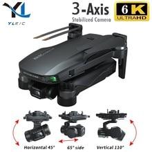 Gd91 max zangão 6k gps 5g wifi 3 eixos cardan câmera sem escova do motor tf cartão rc distância 1.2km rc quadcopter câmera profissional