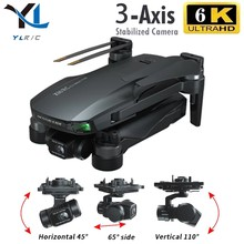 Dron con cámara de cardán de 3 ejes, cuadricóptero profesional con gps, wifi, 6k, 5g, motor sin escobillas, tarjeta TF, distancia de 1,2 km, GD91 MAX