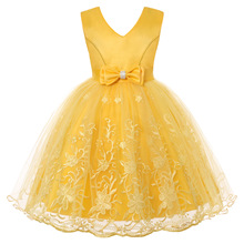 Girls Dress Summer Lace Elegent Princess Dress Kids Dresses For Baby Girls Birthday Party Ball Gown Children Clothing vestidos 2019 lace embroidery dress kids dresses for girl princess autumn winter party ball gown children clothing wear dress for girls