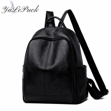 New Women Soft Leather high quality Backpacks Large Capacity School Bags for Teenage Girls Travel Backpack Casual Shoulder Bag