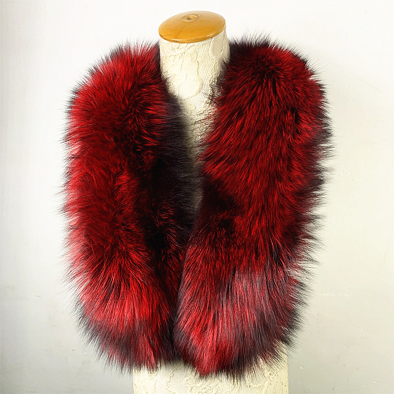 Tatyana Furclub 2019 New Fashion Winter Female Shawl Wine Red Long Scarf Women Real Fur Scarf Natural Fox Fur Solid Luxury Scarf