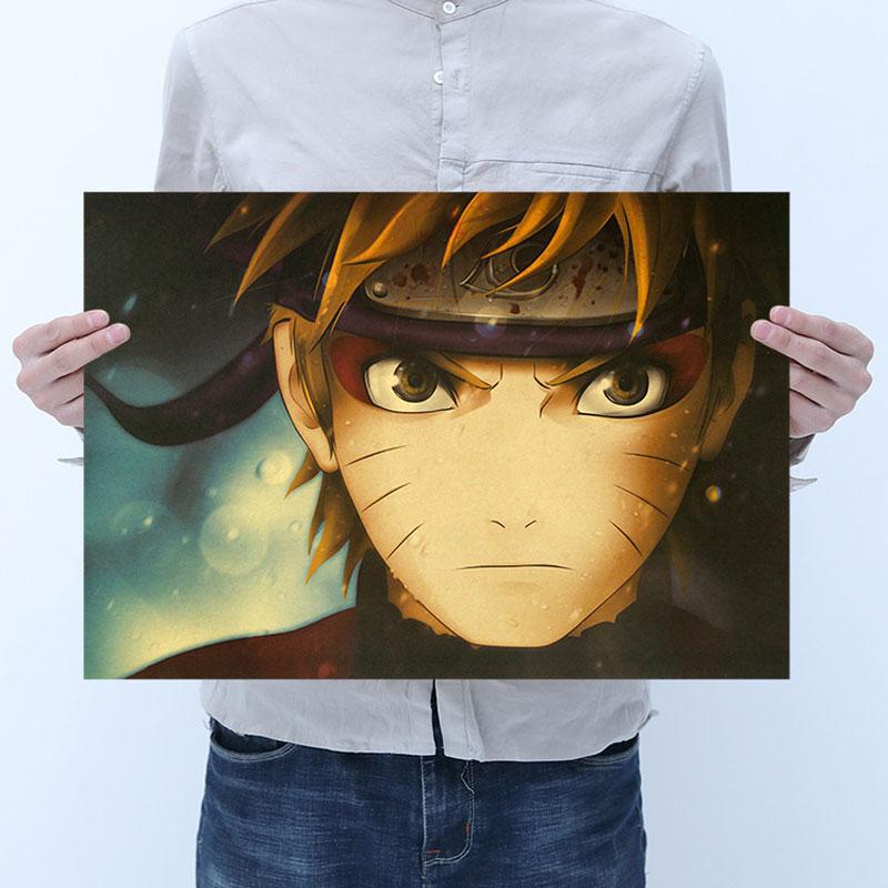 AIMEER ниндзя удзумаки ниндзя голова героя аниме крафт-бумага ретро постер для дома бара кафе декоративная живопись 51x35,5 см