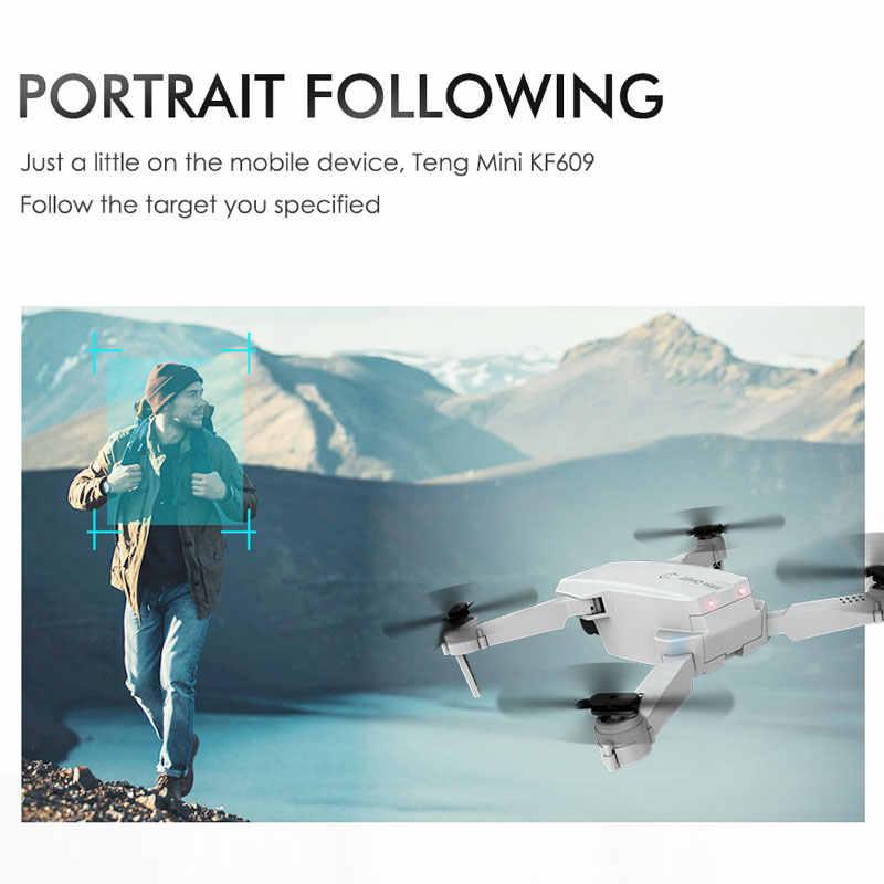 ZWN KF609 RC الطائرة بدون طيار 4K 720P HD كاميرا صغيرة قابلة للطي كوادكوبتر واي فاي FPV صورة شخصية بدون طيار رباعية المروحية لعبة هليكوبتر للأطفال VS M71