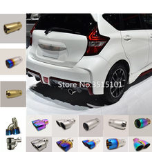 Car Cover Stainless Steel Muffler Pipe Outlet Dedicate Exhaust Tip Tail 1pcs For Nissan NOTE 2017 2018 2019(China)