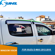 Sliver Car door visor For ISUZU D-MAX 2012-2018 Window rain protector Isuzu D-max 2012 2013 2014 2015 2016 2017 2018 SUNZ