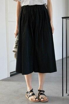 2020control The Crushed Degree Of Tightness Waist Pleated Skirt Long Fund Half-body Will Pendulum Favourite Fashion Chiffon 6