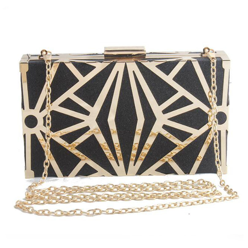 Bolsas Glitter-Bag Minaudiere Chain-Shoulder-Bag Clutches Evening-Bag Party Women Luxury